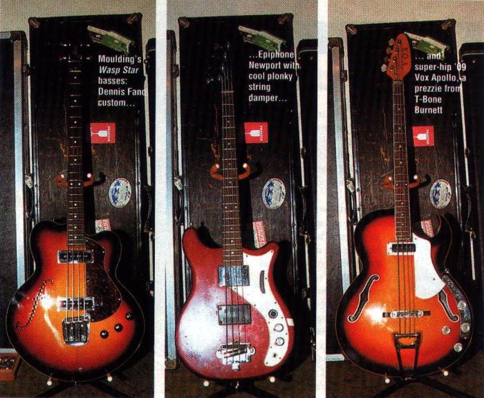 Colin Moulding's basses